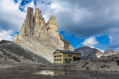 Vajolet Towers. The Vajolet Towers, in the Rosengarten Group of Dolomites Stock Photography