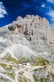 Vajolettoevluchtsoord, Dolomiet stock fotografie