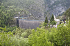 Vajont the dam Royalty Free Stock Photo