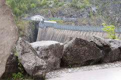 Vajont the dam Stock Images