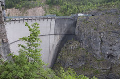 Vajont the dam Stock Photos