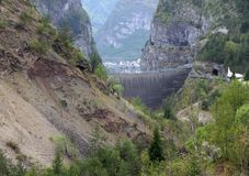 Vajont dam seen from the monte toc landslide 1 Stock Photo