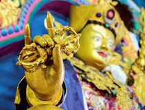 Vajra close-up of Buddha maitreya statue Royalty Free Stock Photos