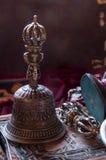 Буддийское религиозное Vajra Dorje и колокол Стоковое Изображение RF