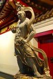 Vajra Guardian 2. Statue of Buddhist Guardian outside Singaporean Temple royalty free stock photo