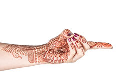 Vajra mudra with henna Stock Photos