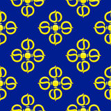 Vajra vector pattern. Vector pattern with the symbol of the vajra Stock Photos