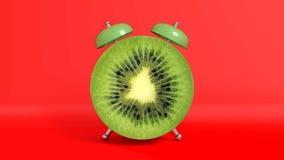 Vak upp formad kiwi för tappning morgon framförande 3d royaltyfri illustrationer