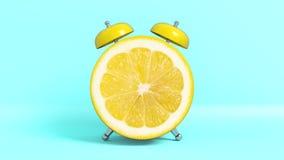 Vak upp formade apelsinen för tappning den morgon framförande 3d vektor illustrationer