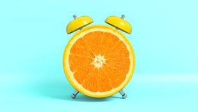 Vak upp formade citronen för tappning den morgon framförande 3d stock illustrationer