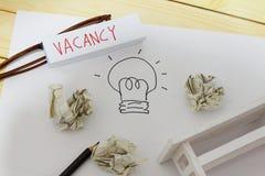 Vakans- och anställningbegrepp arkivfoto
