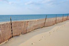 Vakant Lake Michigan strand Arkivbilder