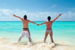 Vakantie bij Caraïbische Zee Royalty-vrije Stock Afbeeldingen