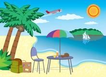 Vakantie bij de kust. Stock Foto's