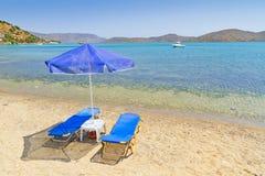Vakantie bij Egeïsche Overzees Stock Fotografie