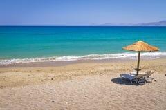 Vakantie bij Egeïsche Overzees van Griekenland Stock Afbeeldingen