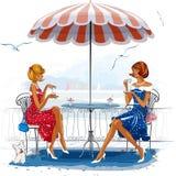 Vakantie bij het overzees royalty-vrije illustratie