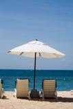 Vakantie bij het Strand Royalty-vrije Stock Afbeeldingen