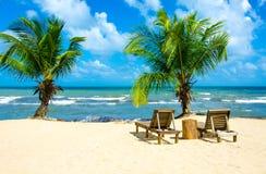 Vakantie bij Paradijsstrand Royalty-vrije Stock Afbeelding