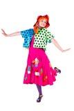 Vakantie, clownmeisje Royalty-vrije Stock Afbeelding