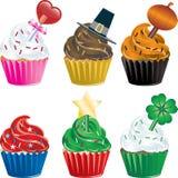 Vakantie Cupcakes Stock Afbeeldingen