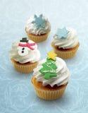 Vakantie cupcakes! Stock Afbeelding