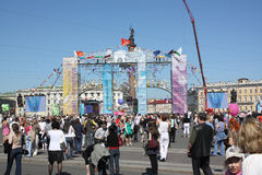 Vakantie - Dag van St. Petersburg Stock Foto's