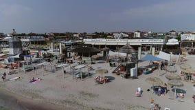 Vakantie in de Zwarte Zee op een zonnige dag stock videobeelden