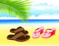 Vakantie door het overzees. Romaanse vakantie. Vector. Stock Illustratie