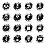 Vakantie eenvoudig pictogrammen Royalty-vrije Stock Foto