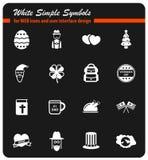 Vakantie eenvoudig pictogrammen Stock Afbeelding