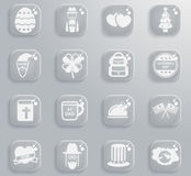 Vakantie eenvoudig pictogrammen Royalty-vrije Stock Afbeeldingen