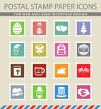 Vakantie eenvoudig pictogrammen Stock Foto