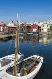 Vakantie en residentual huizen Smögen royalty-vrije stock foto's