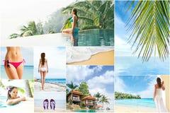 Vakantie en vakantiecollage Royalty-vrije Stock Foto's