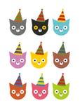 Vakantie gekleurde katjes voor een partij Stock Afbeelding