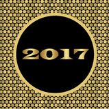 Vakantie glanzende achtergrond met gouden cellen voor het nieuwe jaar Royalty-vrije Stock Afbeeldingen
