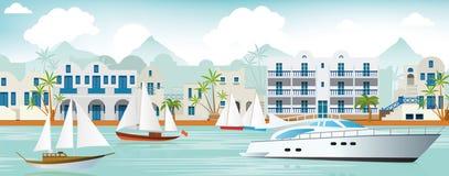 Vakantie in Griekenland vector illustratie