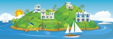 Vakantie in Griekenland royalty-vrije illustratie