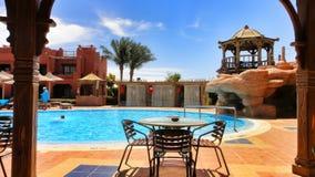 Vakantie in het Egyptische hotel Royalty-vrije Stock Afbeelding