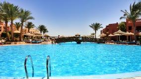 Vakantie in het Egyptische hotel Stock Foto's