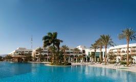 Vakantie in het Egyptische hotel. December, de winter. Stock Afbeelding