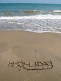 Vakantie in het zand Stock Foto