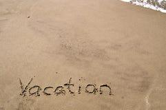 Vakantie in het Zand Royalty-vrije Stock Fotografie