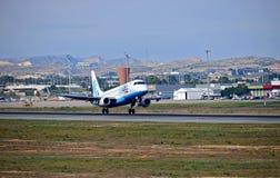 Vakantie Jet Flybe Leaving Alicante stock foto's