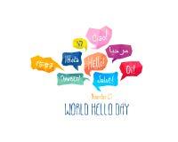 Vakantie 21 November - Wereld hello dag Royalty-vrije Stock Afbeelding