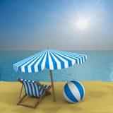Vakantie op de kust royalty-vrije stock afbeelding