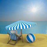 Vakantie op de kust vector illustratie