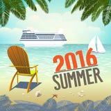 Vakantie op de strand Overzeese Kust Royalty-vrije Stock Afbeeldingen