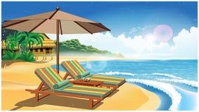 Vakantie op een exotische eiland retro affiche Royalty-vrije Stock Afbeelding